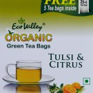 Organic Green Tea - Tulsi & Citrus - 60 TB - Eco Valley