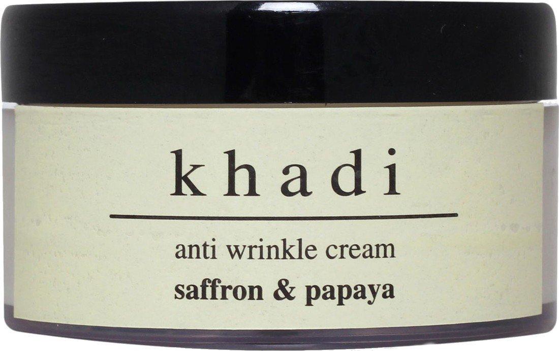 Khadi Herbal Anti Wrinkle Saffron & Papaya Cream 100 gms