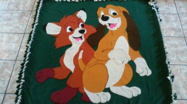 handmade fleece blanket fox and the hound