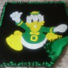 handmade fleece blanket oregon ducks