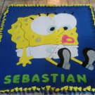 handmade fleece blanket sponge bob throw size