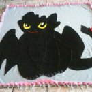 handmade fleece blanket toothless throw size