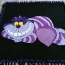handmade fleece blanket cheshire cat from alice in wonderland throw size