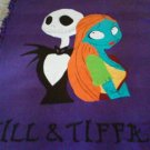 new handmade fleece blanket adult size jack and sally from nightmare before christmas