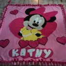 new handmade fleece blanket minnie mouse throw size blanket
