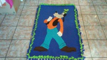 handmade fleece blanket goofy toddler size blanket