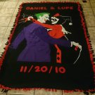 handmade fleece blanket adult size of inspired joker and harley quinn