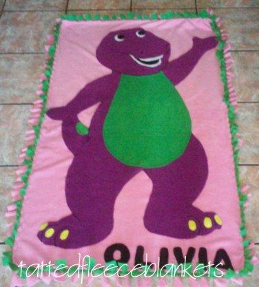 new handmade barney fleece blanket toddler size inspired barney