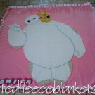 handmade fleece blanket throw size blanket of baymax with winnie the pooh