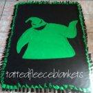 handmade fleece blanket toddler size inspired oogie boogie
