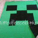 handmade fleece blanket minecraft inspired  double sided creeper and endermand  twin size