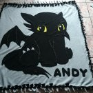 handmade fleece blanket inspired toothless throw size