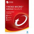 Trend Micro Antivirus 10 2018 1 Yr 1 Device Windows Only Download USA Canada MX Only