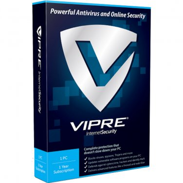 VIPRE Internet Security 1 Yr 1 Device Windows Only Download Worldwide Use