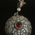 Ottoman Victorian Style 0.33 Ct Ruby 925 Sterling Silver Masonic Star Pendant