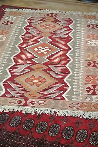 4X6 Amazing Hand Knotted Turkish Muted Vegetable Dye Wool Oriental Rug Kilim
