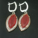 TURKISH OTTOMAN VICTORIAN STYLE 925 SILVER 3.0 CARAT RUBY HURREM EARINGS