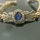 Turkish 1.5 Carat Sapphire Ottoman Victorian Style Bronze Big Gemstone Bracelet