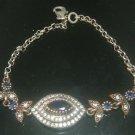 Turkish Ottoman Style Hurrem Ottoman 0.75 Carat Sapphire 925 Silver Bracelet