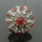 Turkish 1.5 Carat Ruby Vintage Looking Ottoman Victorian Bronze Size 8 Ring