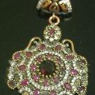 Ottoman Victorian Style 2.5 Carat Ruby 925 Silver Flower Roxelana Pendant