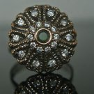 Turkish 0.1 Ct Emerald Size 8.5 Victorian 925 Sterling Silver Sultan Boho Ring