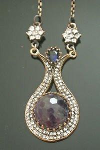 Bronze Turkish Vintage 6 Carat Smoky Amethyst Ottoman Victorian Drop Necklace