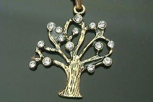 Turkish 0.07 Carat Zircon CZ Ottoman Victorian Style Bronze Life Tree Necklace
