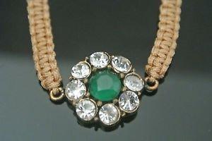 Handmade Turkish Emerald Ottoman Victorian SULTAN Parachute Cord Bronze Bracelet