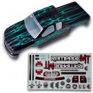 Redcat Racing 50910 1/5 Truck Body, Black with Green Flames