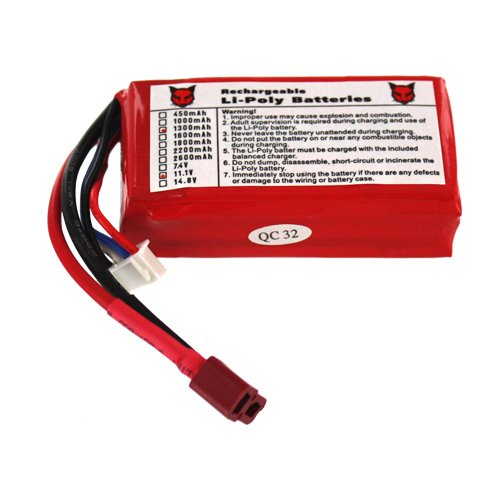 Redcat Racing AT-3F025 one battery(11.1V, 1300mah)
