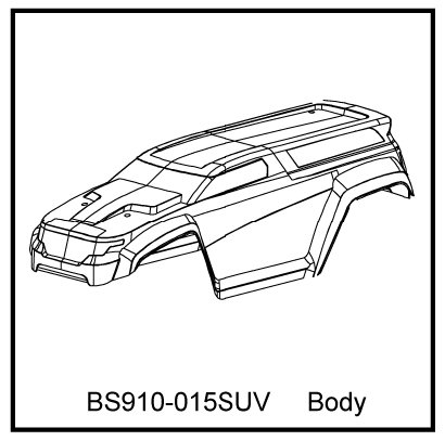 Redcat Racing BS910-015SUV T10 SUV Body Clear   - BS910-015SUV