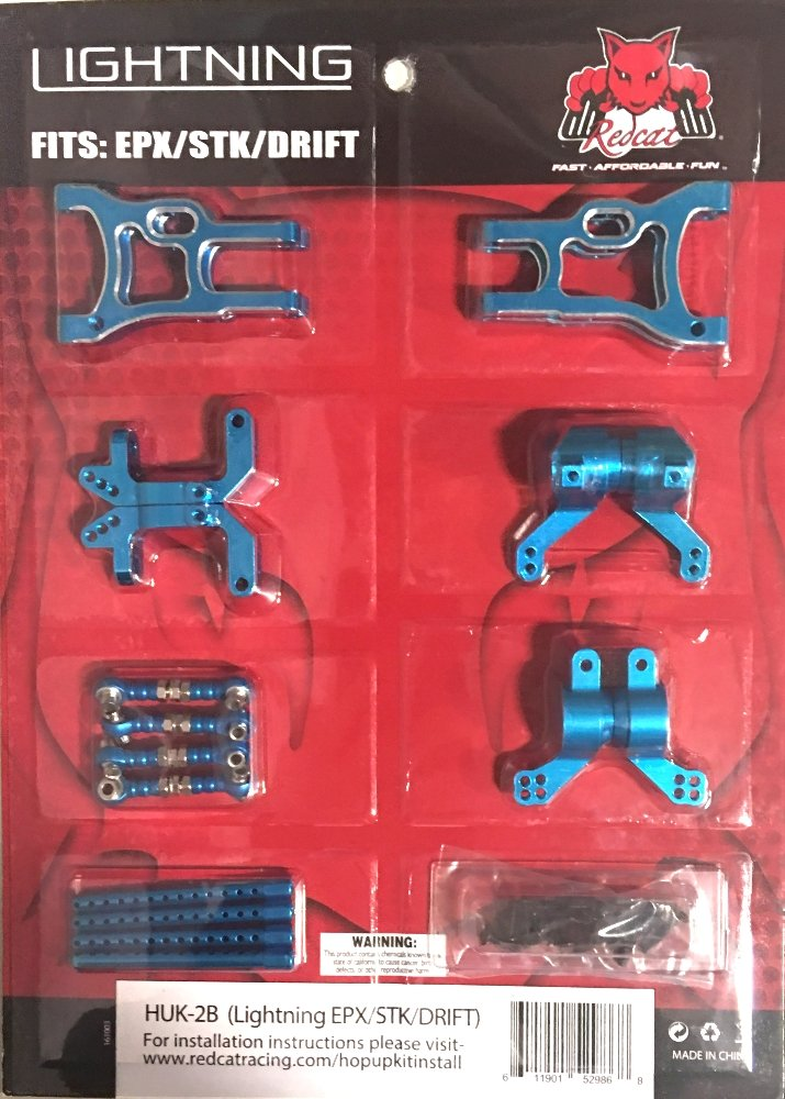 Redcat Racing Lightning Pro/Drift/STK hop up kit (New version) (Blue) HUK-2B