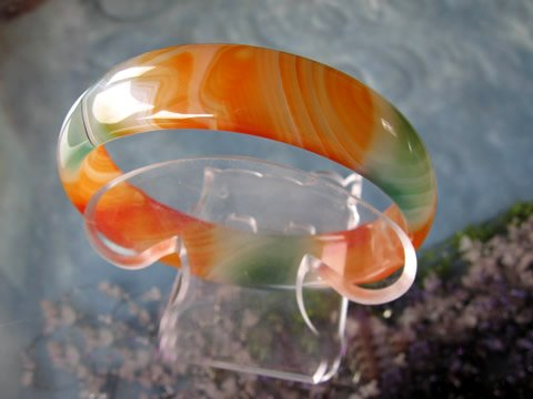 red and green agate bracelet-3