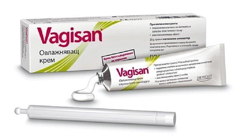 Vagisan Moisturizing cream for vaginal dryness with applicator softens skin