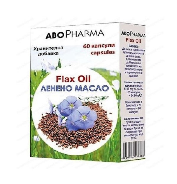FLAX OIL to maintain a balanced level of cholesterol and triglycerides 60 caps