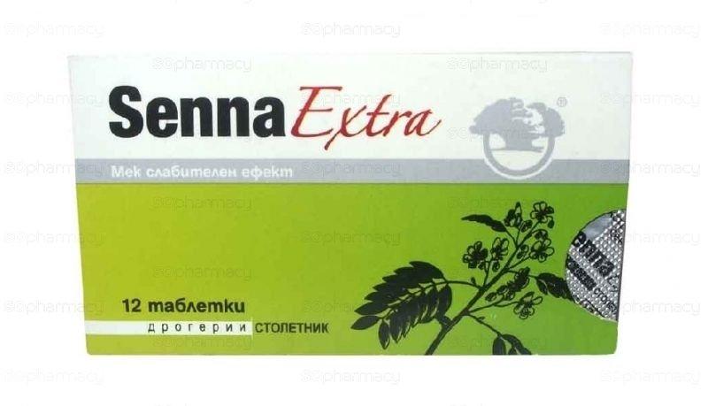 Senna extra at Lazy Bowel Stimulates the intestinal peristalsis 3 packs x 12 tab