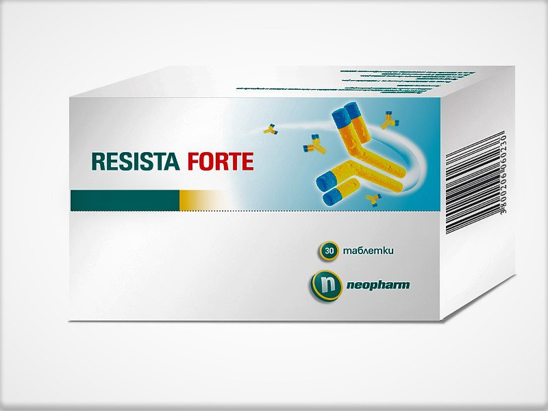 Resista Forte against viruses and bacteria for frequent throat infections 30 tablets