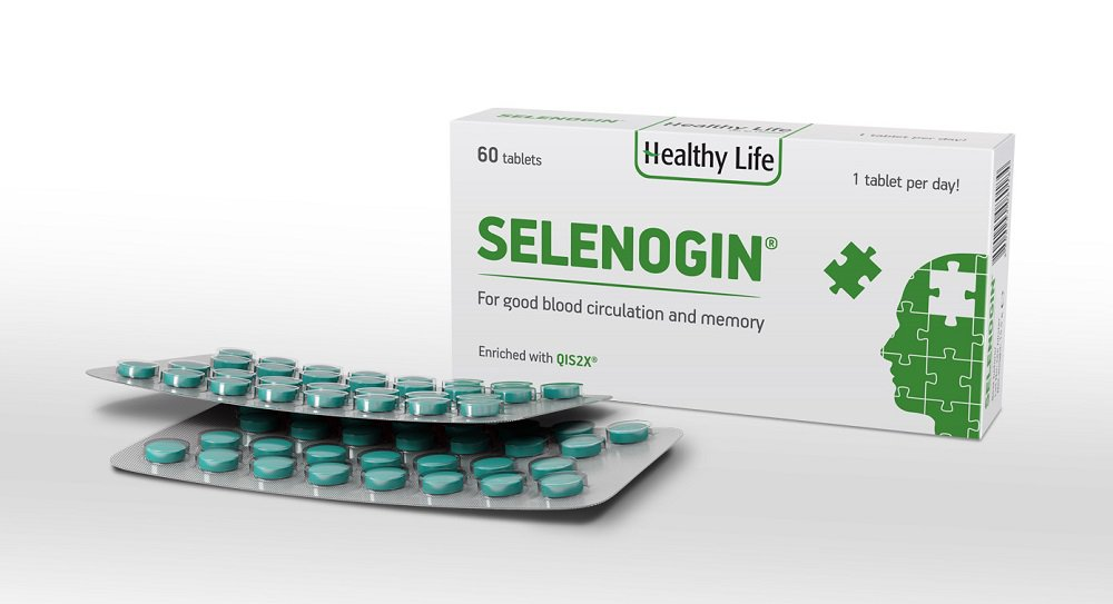 Selenogin normal blood circulation brain and extremities, memory, concentration