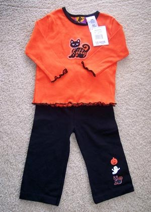 NWT Halloween Outfit Shirt Pants Infant Baby 12 months www.thriftstoretreasures.ecrater.com