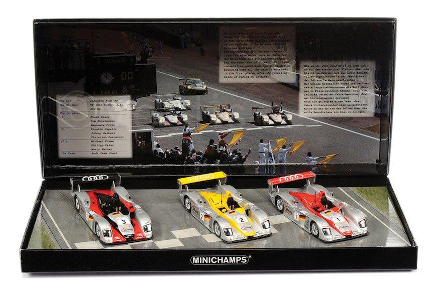 Minichamps 402020123 Audi R8 Audi Sport Team Joest Le Mans 2002 3 Car Box Set