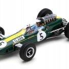 Spark Model S7132 Lotus 33 #5 'Clark' Winner British GP 1965