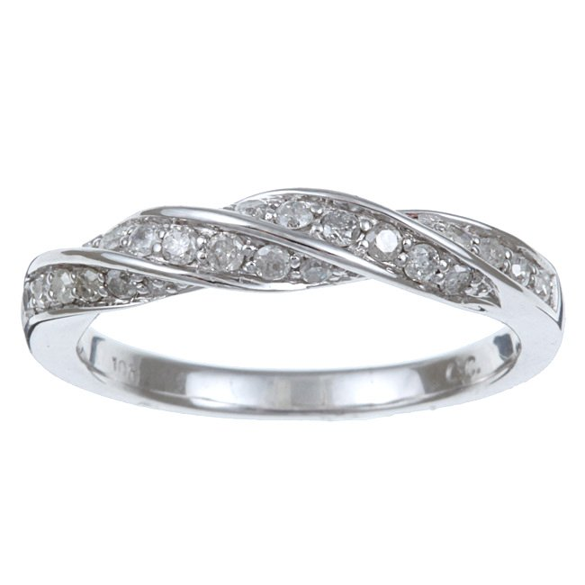 10k White Gold Pave Braid Style Diamond Band (G-H, I1-I2)