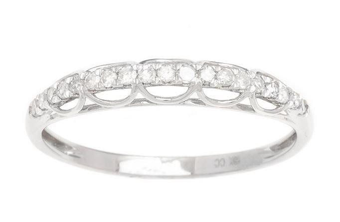 White Gold 1/4ct Diamond Wedding Band Ring (G-H, I1-I2)