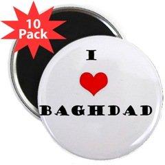 """""""I love Baghdad"""" Magnet (10 pack)"""