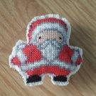 Santa Crossstitch handmade magnet