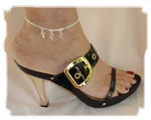 AFMF001 - Anklet Jewelry with FMF Charms