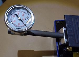 15000 PSI OIL FILLED GAUGE WITH TEE ADAPTER FOR ENERPAC OTC OMEGA BVA FOOT PUMPS