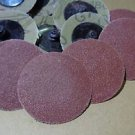 2 Inch Roll Lock sanding discs 240 GRIT good quality 50 pieces FREE SHIP SD240