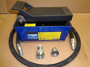HYDRAULIC AIR FOOT PUMP 10,000 PSI FOR AUTO BODY FRAME AND PULLING POST FULL SET